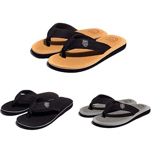 Mens Gray Sandals - Bluefringe Mens Flip Flops Sport Thong Sandals Comfort for Outdoor Beach Gray