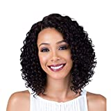 Short Lace Front Curly Wigs Black Wig for Women Synthetic Fiber 13'' Kinky Curly