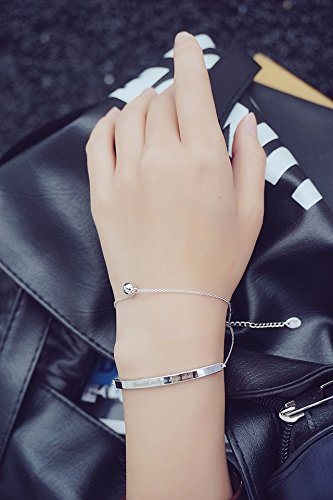 Generic The_ Korean style small _stylish_English_letters_orb_multiple_layers_ hand chain bracelet bangle wristband ()