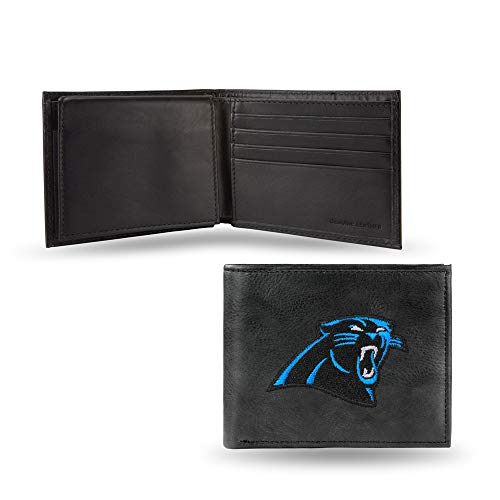 NFL Carolina Panthers Embroidered Leather Billfold - Leather Panther