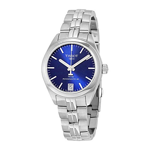 Tissot PR 100 Automatic Blue Dial Ladies Watch T101.207.11.041.00