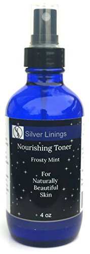 (Silver Linings Mint Facial Toner Astringent Cleanser Spray, Alcohol Free for Oily, Dry, Sensitive Skin. Reduce Acne, Shrink Pores, Moisturize and Brighten Complexion. 4 oz)