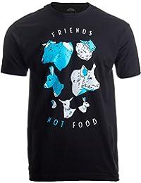 Friends Not Food | Cute Vegetarian Veg Vegan Animal Art for Women or Men T-Shirt