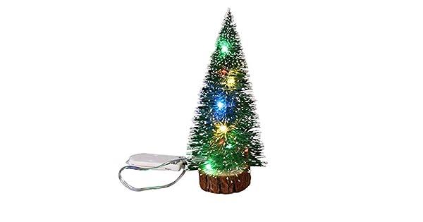Amazon.com: Árbol de Navidad de mesa con luces LED colorido ...