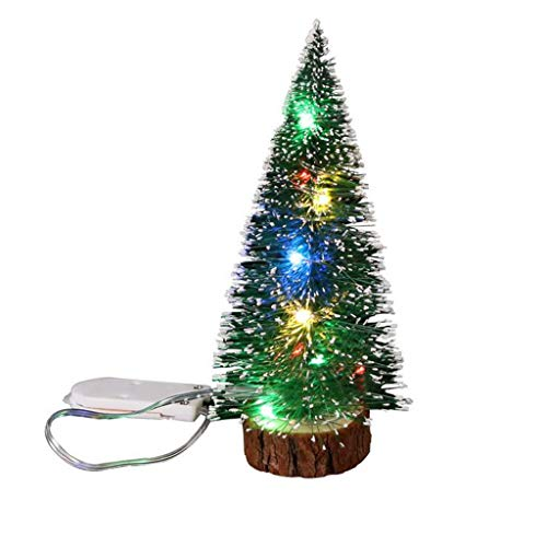 LuckyGirls Decoraciones de Navidad Decoracion de Escritorio con Luces LED Mini arbol de Navidad