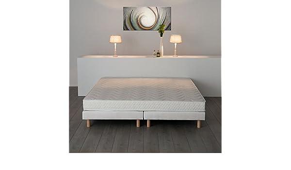 finlandek conjunto colchón + somier Unelma 180 x 200 cm - Espuma a memoria de forma - 16 cm - granja - 24 kg/m³ - 2 personas: Amazon.es: Hogar