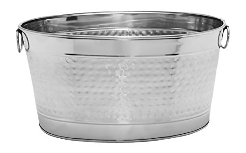 Mr. Ice Bucket Stainless Steel Beer Tub, Large, Chrome (Bucket Steel Drinks)