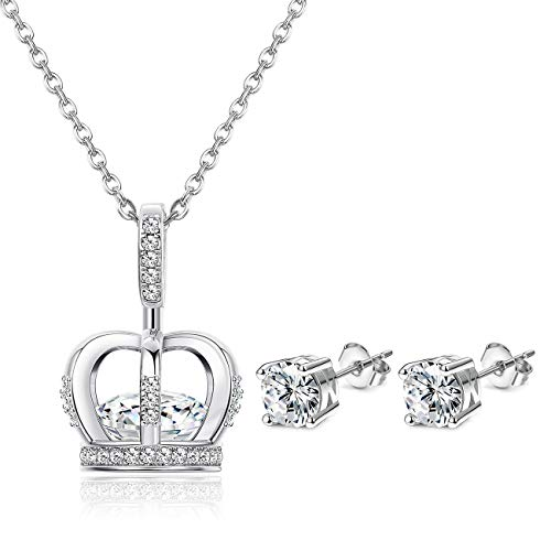 ORAZIO Crown Necklace and Earrings Set
