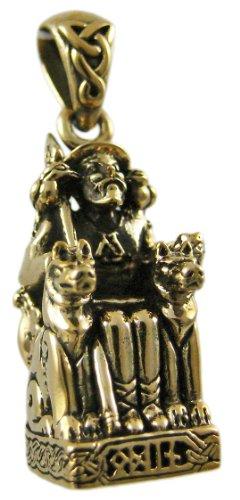 (Dryad Designs Bronze Norse God Odin On Throne Pendant Viking Pagan)