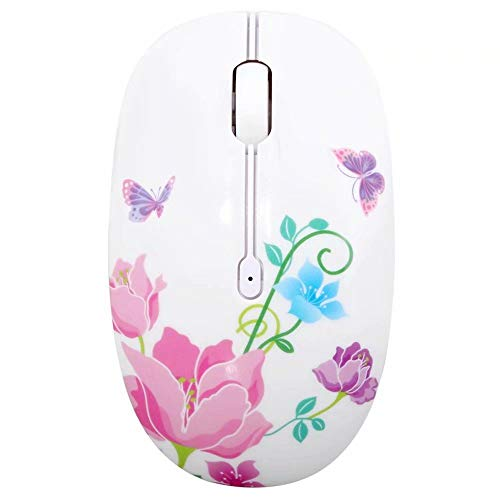 (Wireless Mouse Silent Mouse 2.4Ghz Optical Travel Mouse with Nano USB Receiver for Laptop PC and Mac (Butterfly))