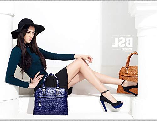Royal seashell XNQXW bandolera bag handbag Leather handbag Bolsos Blue qqP0wRS