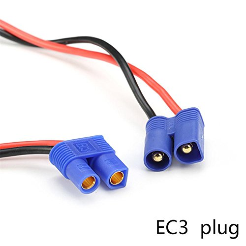 Smileyyi RC Heavy Duty Battery Harness Switch EC3 Plug Built in Charging Socket,4.0mm Banana Plug 12AWG Cable Balance Charge Cable Adapter Connectors (Duty Switch Harness Heavy)