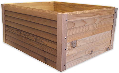 8 Frame Hive Box Protector Holder Lift - Beehive Protection - Cedar Wood Beekeeping Accessories - Made in USA