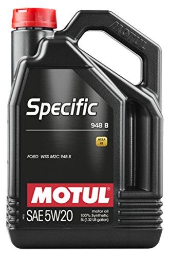 Motul 106352 Specific 948 B 5W-20 Synthetic Motor Oil, 5 Liter, 128. fluid_ounces by Motul