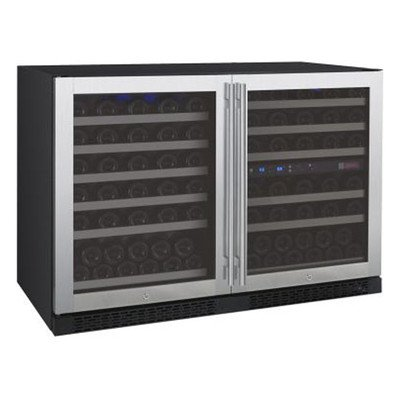 Allavino Flexcount 3Z-VSWR5656-SST 112 Bottle Three-Zone Side by Side Wine Refrigerator