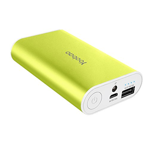 Yoobao M3 7800mAh Compact Lightweight Portable Charger Powerbank External Battery Pack Power Bank Cell Phone Battery Backup for iPhone x 8 8 Plus 7 Plus 7 6s 6 5s Samsung Galaxy and More - Green