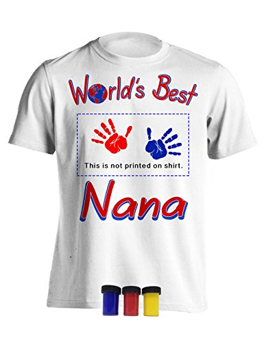 4Ink Worlds Best Nana Gift Keepsake Shirt Perfect For Mothers Day Medium (Mothers Day Handprint)