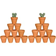 """My Urban Crafts 2"""" Mini Terracotta Clay Pots - Great for Succulent & Cactus Nursery Planter, DIY Craft Projects, Wedding and Party Favors (Set of 20)"""