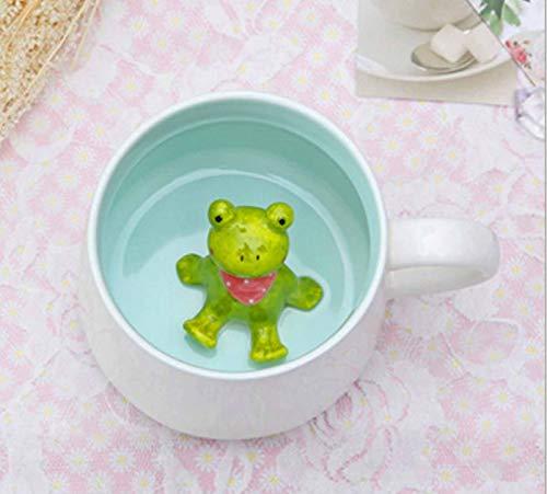 Frog Inside Funny Coffee Mug Sarcasm Novelty 3D Ceramic Mugs for Men & Women, Him or Her, Husband or Wife - 13.5 OZ
