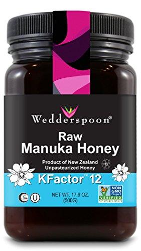 Wedderspoon Raw Premium Manuka Honey KFactor 12, 17.6 Oz, Unpasteurized, Genuine New Zealand Honey, Multi-Functional, Non-GMO Superfood
