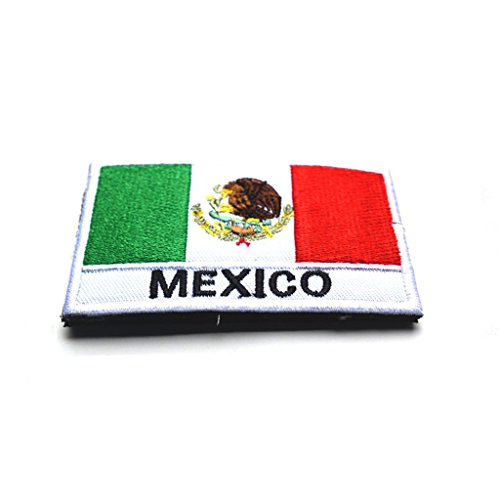 ShowPlus Mexico Flag Patch Military Embroidered Tactical Pat