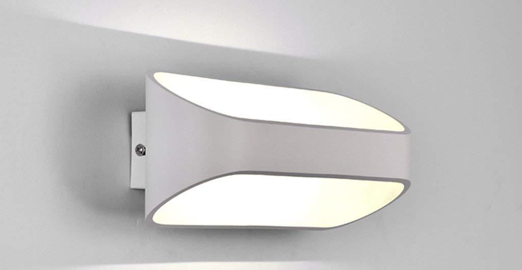 Eeayyygch Moderne Einfache Kreative LED Wandleuchte Nachttischlampe Balkon Wandtreppe Lichter Personalisierte Kunst Schlafzimmer Beleuchtung (Größe  25 cm) (Farbe   5w25cm, Größe   -)