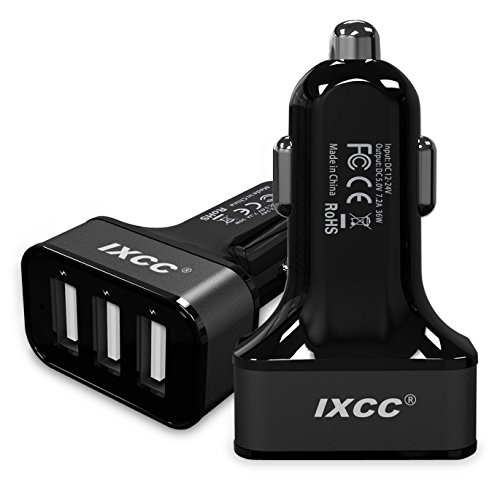 iXCC 36W 3-Port Multi USB Car Charger Rapid Charging Adapter