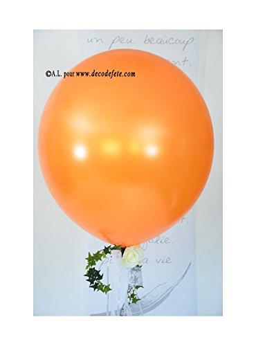 Belbal 1 Balón Gigante 90 cm Naranja nacarado: Amazon.es: Hogar