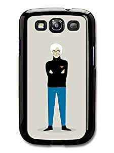 AMAF ? Accessories Andy Warhol with Blue Trousers Black Jumper Minimalist Illustration Pop Art case for Samsung Galaxy S3