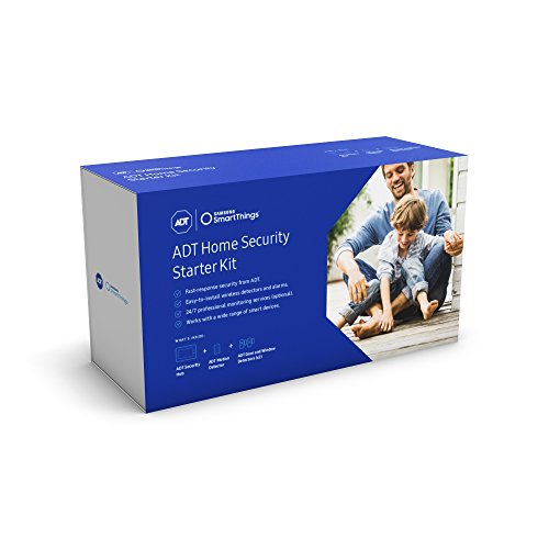 Samsung SmartThings ADT Wireless Home Security Starter Kit with DIY Smart Alarm System Hub, Door and Window Sensors, and Motion Detector - Alexa Compatible (Zigbee, Z-Wave, IP Network Protocols)