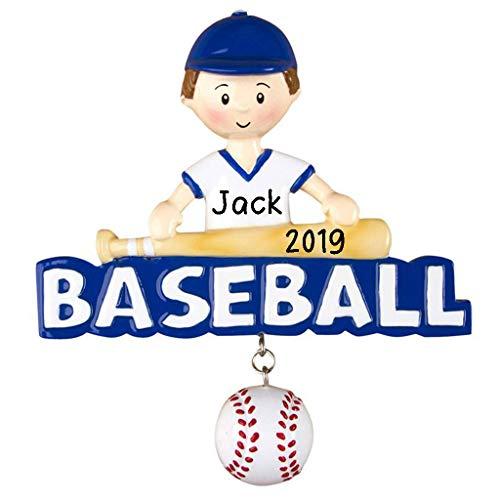Hobby Home Accessories Baseball Boy Personalized Christmas Ornament 2019 | Baseball Players Gift | Custom Writing Names Ornament