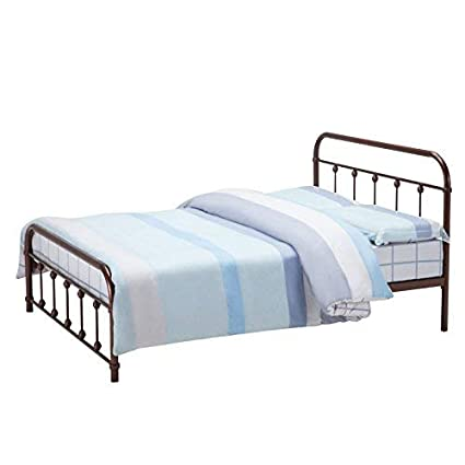 d7a711218cc22 Amazon.com  Mecor Bronze Antique Metal Bed Frame Full Size Platform ...