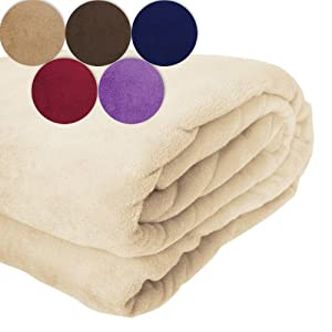 jago couverture polaire douillete chaude couvre lit plaid 220 x 200 cm couleur au choix. Black Bedroom Furniture Sets. Home Design Ideas