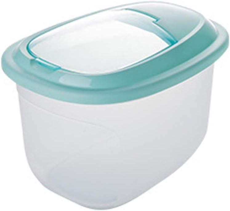 保存容器 キャニスター 大規模な食品保存容器ドライ小麦粉ライスディスペンサー食品ビンにふたBPAフリーのコンテナパーフェクトキッチン 食品貯蔵タンク (Color : Green, Size : 28.5x25x39cm)