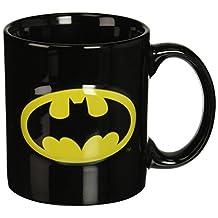 ICUP DC Batman Embossed Logo Ceramic Mug, 20-Ounce, Clear