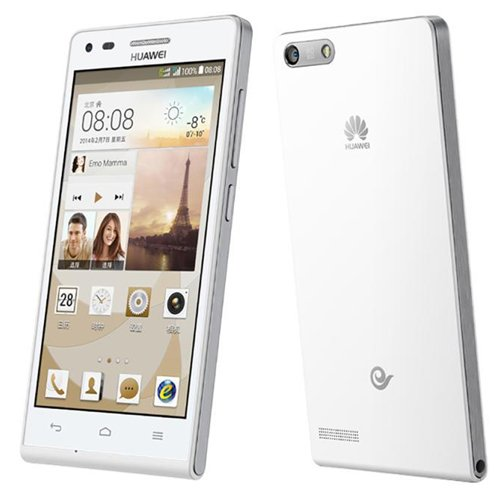 Huawei Ascend G6 3G Smartphone (gift-Leather Case) 4.5 inch Android 4.3 RAM 1GB ROM 4GB 8MP Quad Core Qualcomm MSM 8212 1.2GHz Dual SIM WCDMA GSM (white)