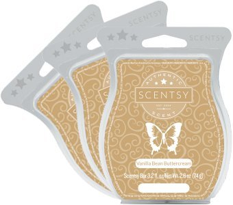 Scentsy, Vanilla Bean Buttercream, Wickless Candle Tart Warmer Wax 3.2 Oz Bar, 3-pack (3)