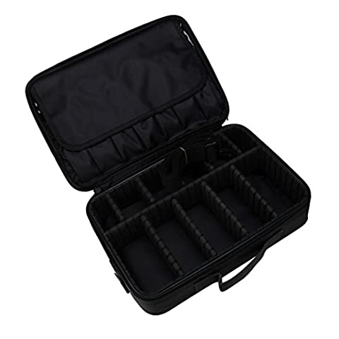 DDLBiz Cosmetic Beauty Three Portable Professional Makeup Cosmetics Cases (black) (Professional Auger)
