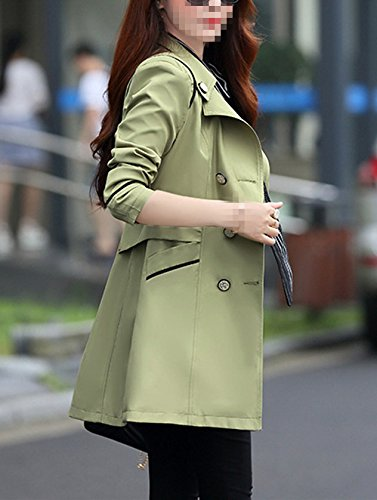 9c2457fb47e ... Coats Verypoppa Women s Double Breasted Lapel Long Sleeve Thin Trench  Coats Jackets. Allegra ...