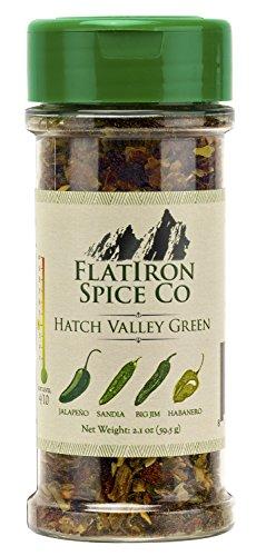 - Flatiron Spice Co - Hatch Valley Green. Premium Green Chile Flakes. Hatch Valley Green Chiles - Jalapeno - Habanero