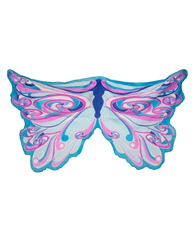 [Wings Fairy Rainbow Blue] (Fairy Godmother Costume Toddler)