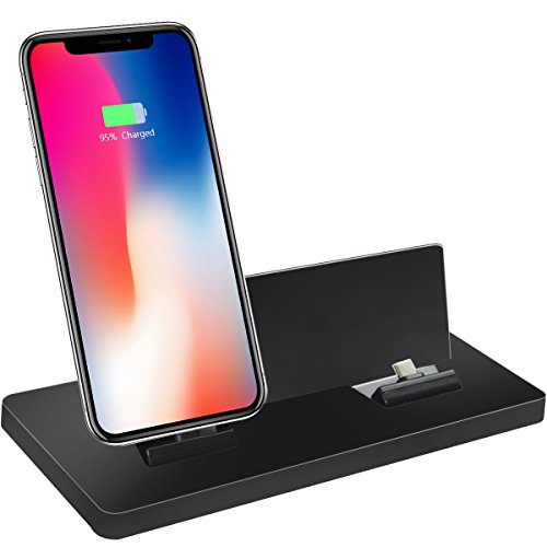 Magnetic Charger Dock Charging Station, Multiport Adapter with Multifunctional Mobile Phone Bracket For iPhone, Android,Type-c Charger and Tablets with Micro-USB by SunBox