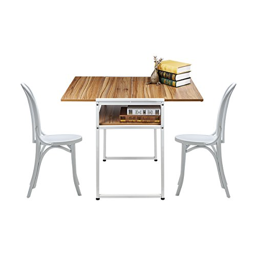 Magshion Extendable Restaurant Dining Drop Leaf Table Computer Laptop Breakfast Desk Coffee Shop by Magshion