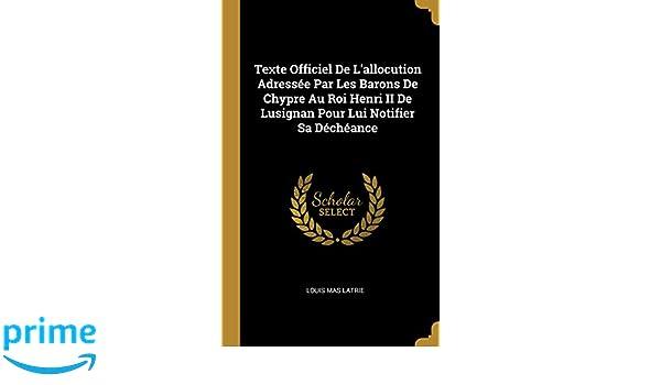 Texte Officiel De Lallocution Adressee Par Les Barons De