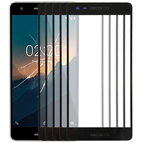209925 Repair Spare Parts Cell Phone Accessories Front Screen Outer Glass Lens for Nokia 2.1 TA-1080 TA-1084 A-1086 TA-1092 TA-1093(Black) Supplier (Color : Black) ()