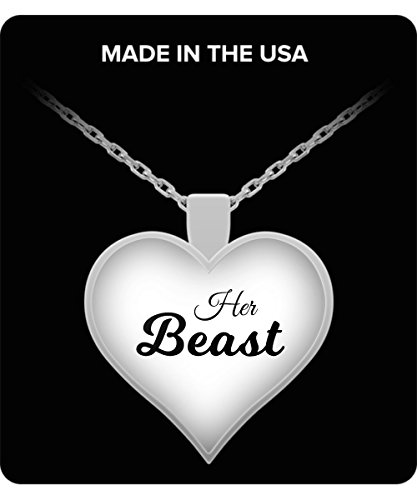 Her Beast Necklace - Couples Funny Coffee Mug Set 11oz - Unique Wedding Gift For Bride and Groom - His and Hers Anniversary Present Husband and Wife - Engagement Gifts For Him and Her - Valentines Day