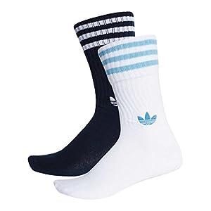 Adidas Originals Women's Solid Crew Socks Multicolour in size US 3-5.5