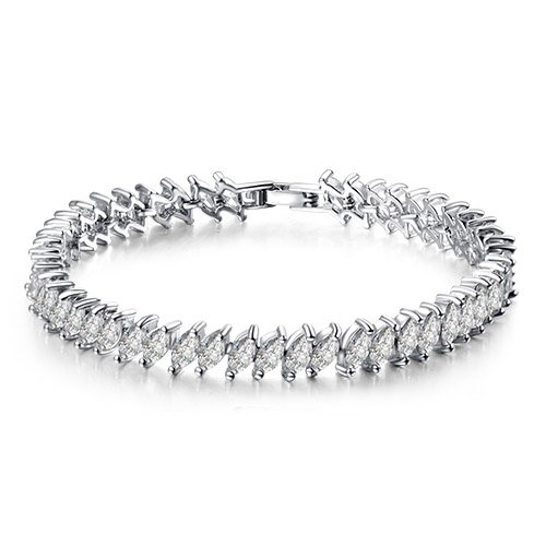 (Marquise Stone Luxe Sterling Silver Tennis 7