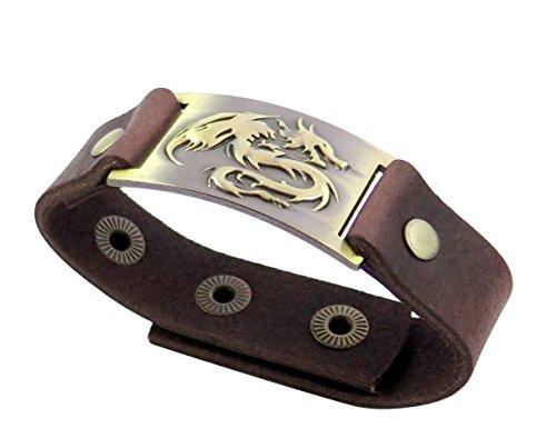 - Dragon Bracelet, Leather, Adjustable