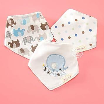 Macxy - Toalla 3pcs / Lot recién Nacidos de algodón Baberos para bebés Niño Niña de